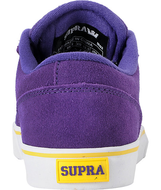 Supra Amigo Keelan Purple Suede Skate Shoes