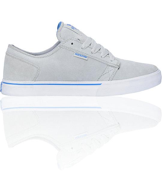 Supra Amigo Light Grey Suede Skate Shoes