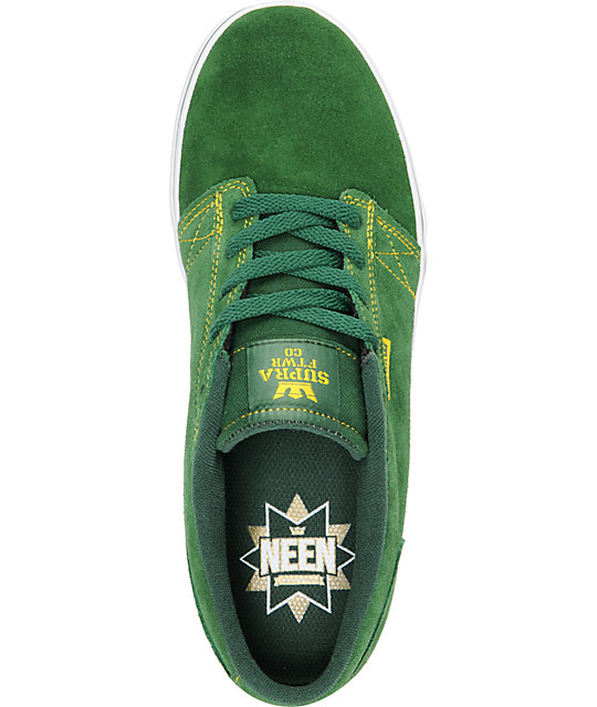 Supra Amigo Neen Green Suede Skate Shoes