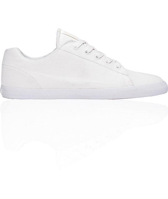 Supra Assault White Canvas Shoes