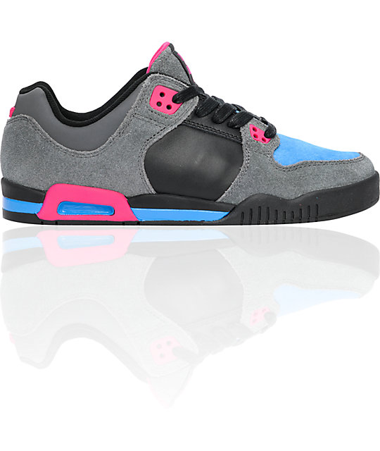 Supra Avenger Black, Grey & Blue Shoes