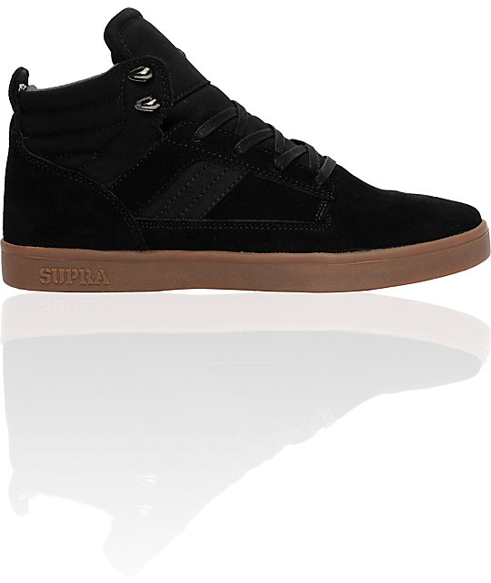 Supra Bandit Mid Black Suede Shoes