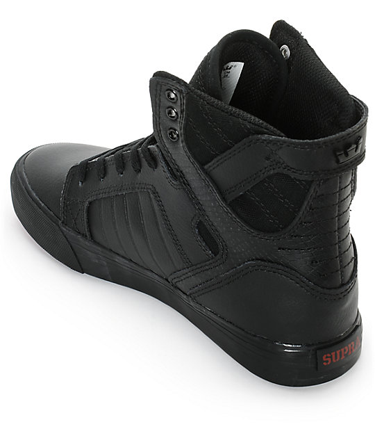 Supra Boys Skytop Red Carpet Tuf Skate Shoes Zumiez