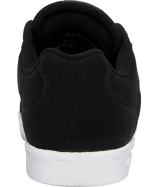 Supra Bullet Black Suede Lizard King Signature Shoes