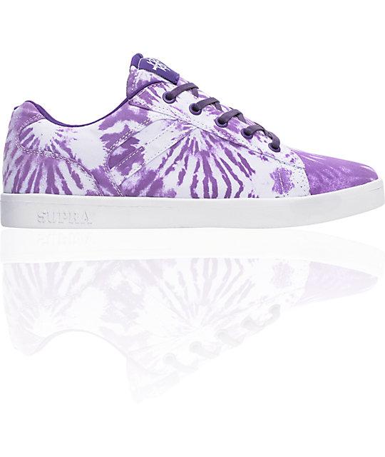 Supra Bullet Lizard King Purple Tie-Dye Shoes
