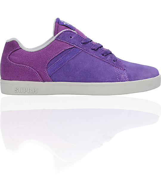 Supra Bullet Purple & Grey Suede Lizard King Signature Shoes