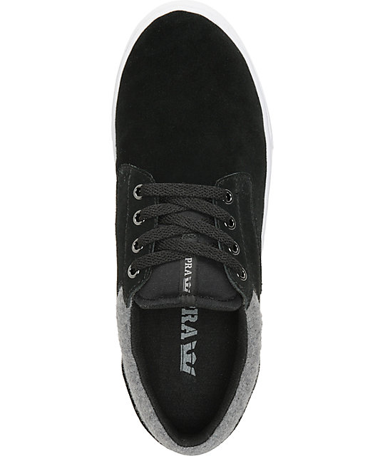Supra Carver Black & Grey Wool Shoes