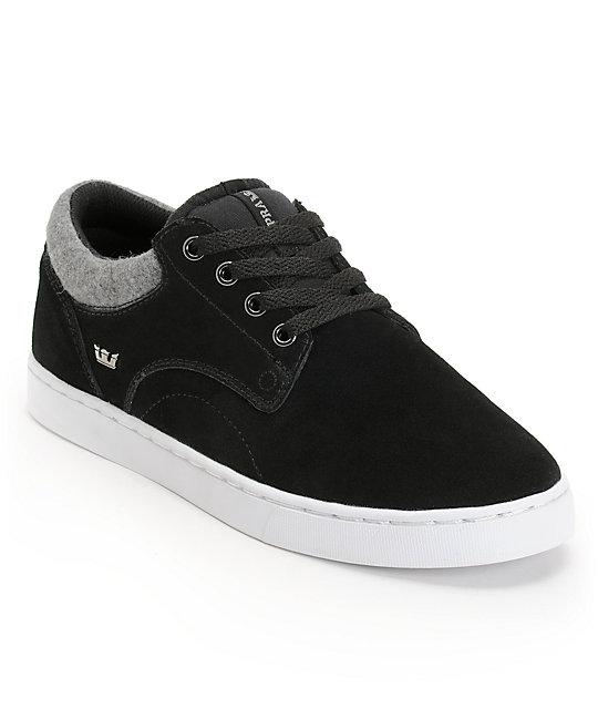 Supra Carver Black & Grey Wool Shoes