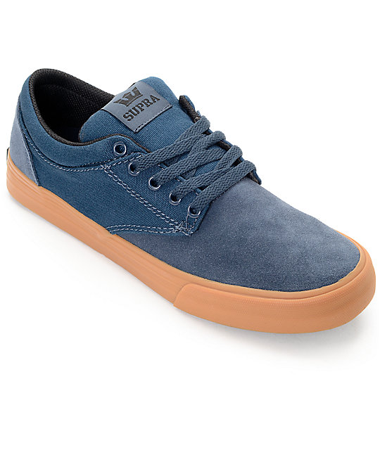 Supra Chino Navy & Gum Skate Shoes