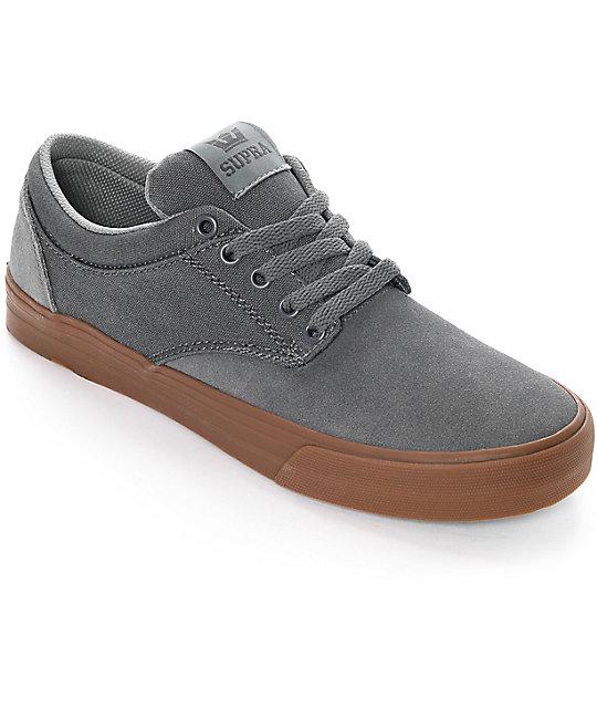 Supra Chino zapatos de skate en gris y goma