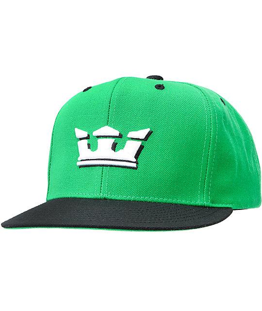 Supra Crown Green Snapback Hat