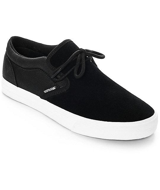 Supra Cuba Black & White Skate Shoes