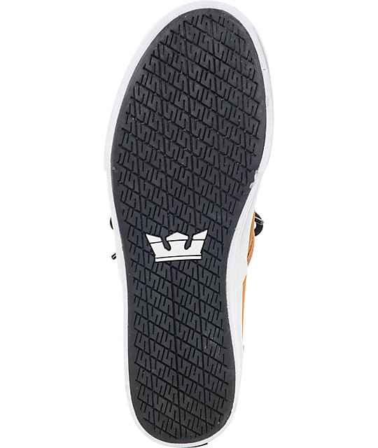 Supra Cuba Cathay Spice, Black & White Skate Shoes