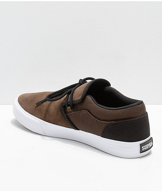 Supra Cuba Demitasse, Black & White Skate Shoes