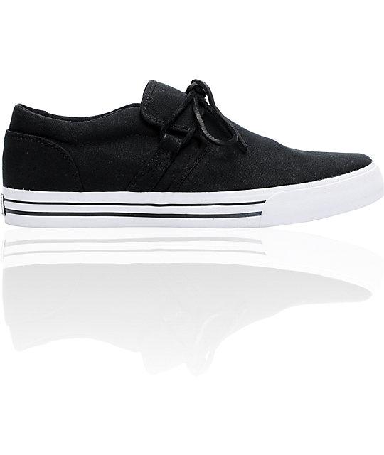 Supra Cuban Black Canvas Skate Shoes