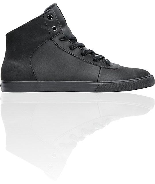 Supra Cuttler Black Satin Tuf Mid Shoes