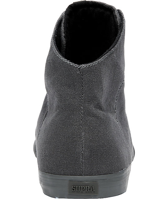 Supra Cuttler Grey Canvas Mid Shoes