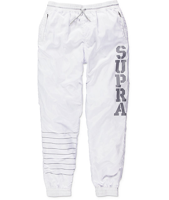 Supra Dash White Track Pants at Zumiez : PDP
