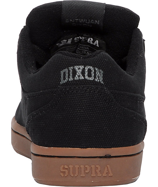 Supra Dixon Black Canvas Shoes