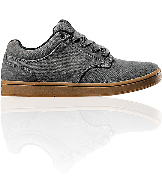 Supra Dixon Grey Canvas Shoes