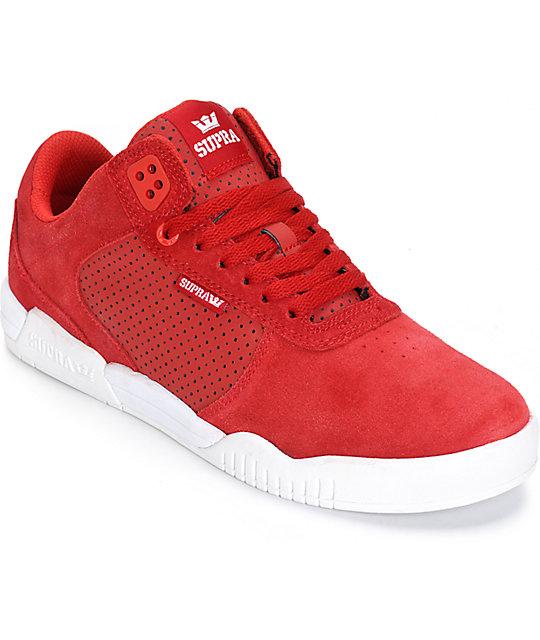 Supra Ellington Red Suede Skate Shoes