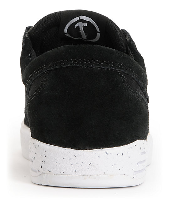 Supra Hammer Black & White Suede Skate Shoes