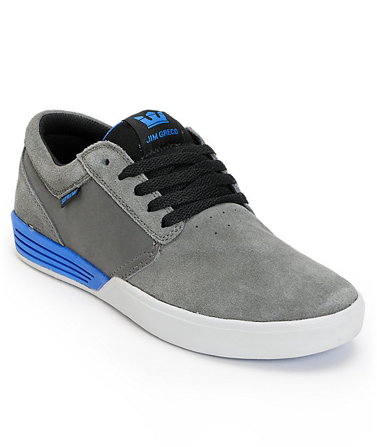 Supra Hammer Charcoal, Black & Royal Suede Skate Shoes