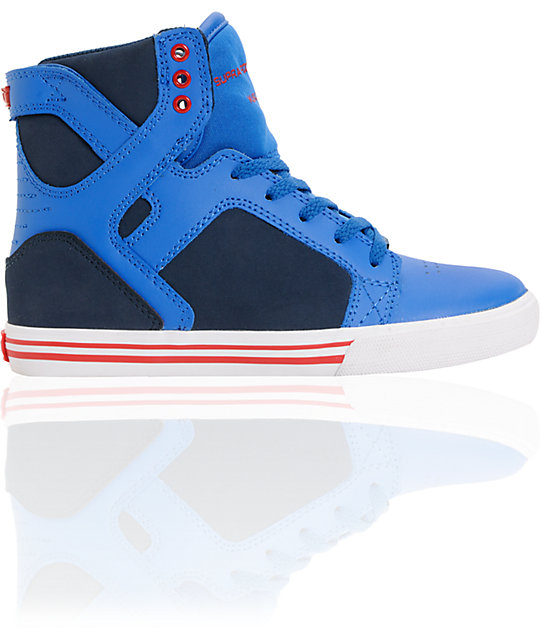 Supra Kids Skytop Royal Blue & Navy Skate Shoes