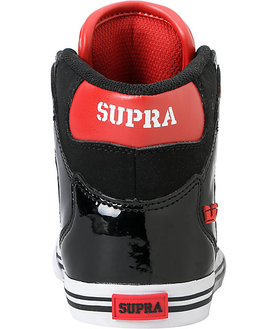 Supra Kids Vaider Black & Red Shoes