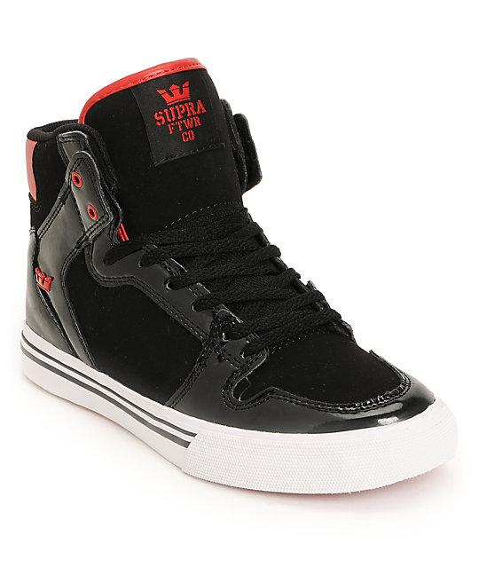 Supra Kids Vaider Black & Red Shoes