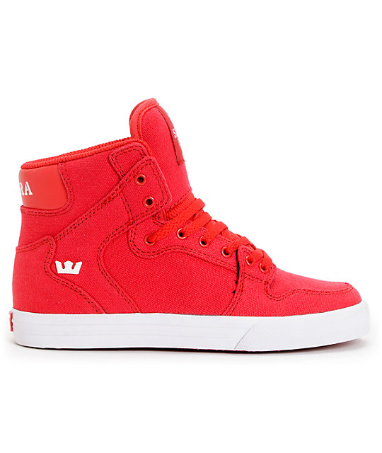 Red Color Canvas Shoes