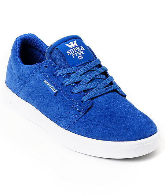 Supra Kids Westway Royal Blue Skate Shoes