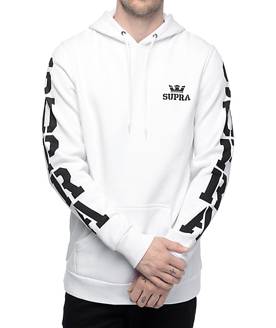 Major White Pullover Hoodie