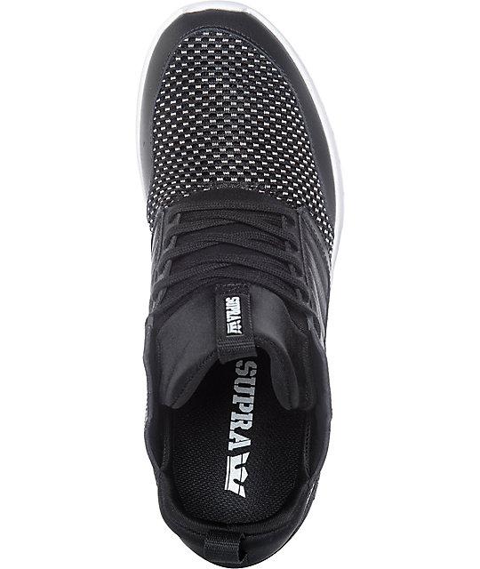 Supra Method Black & White Leather & Mesh Shoes