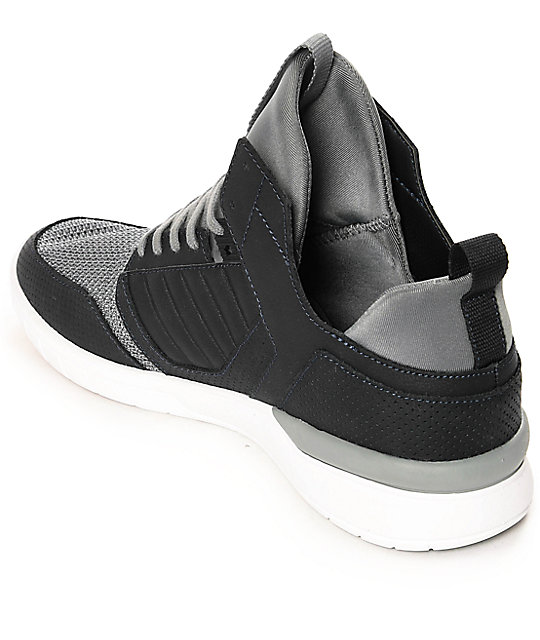 Supra Method Light & Dark Grey Perforated Nubuck Shoes