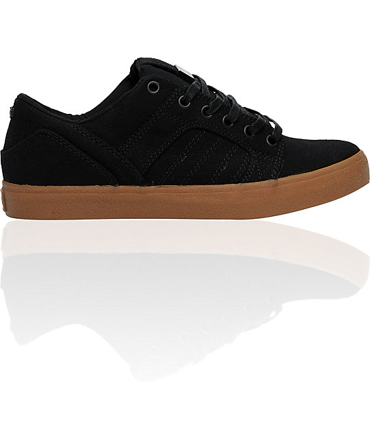 Supra Muska Skylow 1.5 Black Canvas & Gum Shoes
