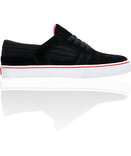 Supra Muska Skylow 2 Black Suede & Canvas Skate Shoes