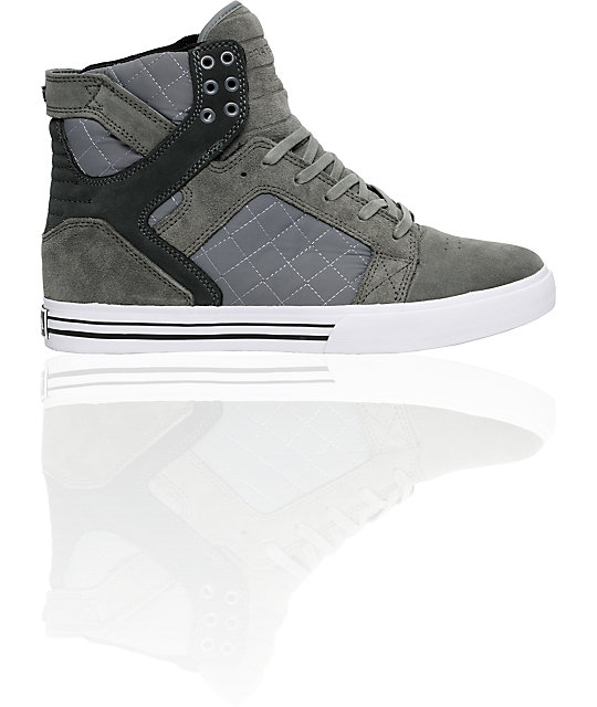 Supra Muska Skytop Grey Suede & Nylon Shoes