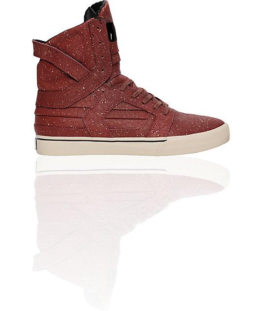Supra Muska Skytop II Burgundy Spackle Shoes