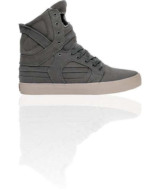 Supra Muska Skytop II Charcoal Grey Canvas Shoes