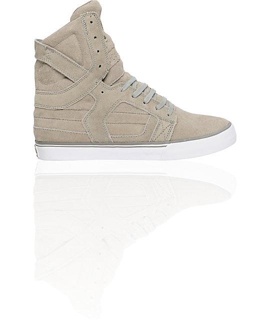 Supra Muska Skytop II Khaki Suede Shoes