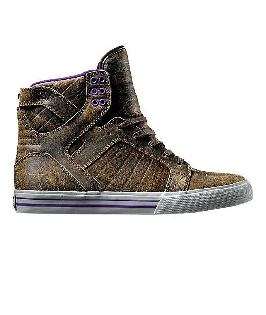 Supra Muska Skytop Kola Brown Shoes