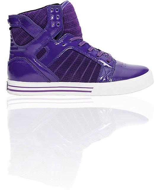 Supra Muska Skytop Purple Patent Shoes