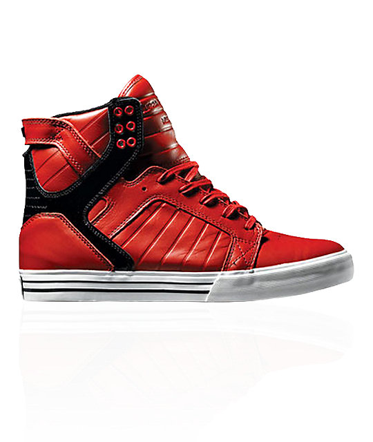 Supra Muska Skytop Red & Black Patent Shoes