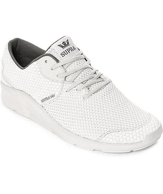 Supra Noiz Mono Light Grey Embossed & Knit Shoes