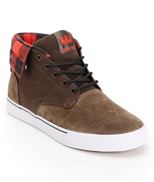 Supra Passion Brown Suede Skate Shoes