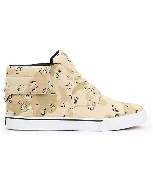 Supra Passion Desert Camo & White Skate Shoes
