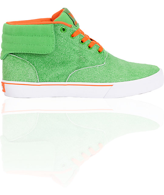 Supra Passion Lizard King Pro + Am Green Suede Limited Edition Shoes
