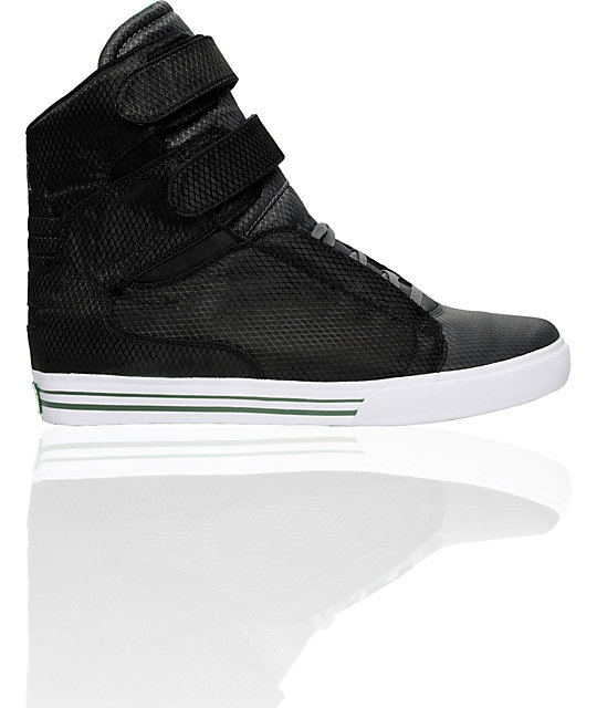 Supra Ripstop Series TK Society Black & Green Nylon Shoes