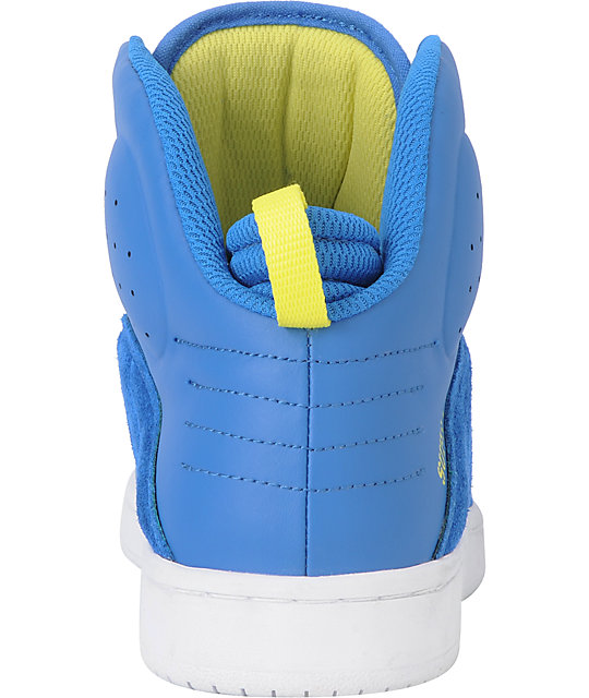 Supra S1W Stevie Williams Blue Suede & Leather Skate Shoes